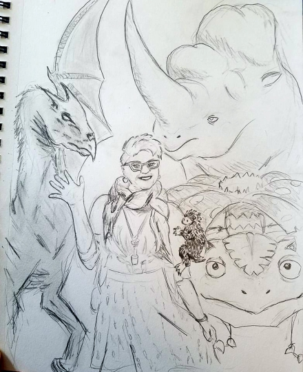 By David Waters, MeganBob as Luna Lovegood with an assortment of fantastic beasts